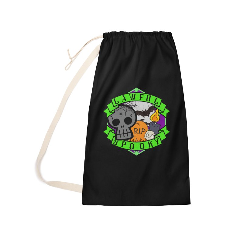Lawful Spooky Accessories Laundry Bag Bag by RandomEncounterProductions's Artist Shop