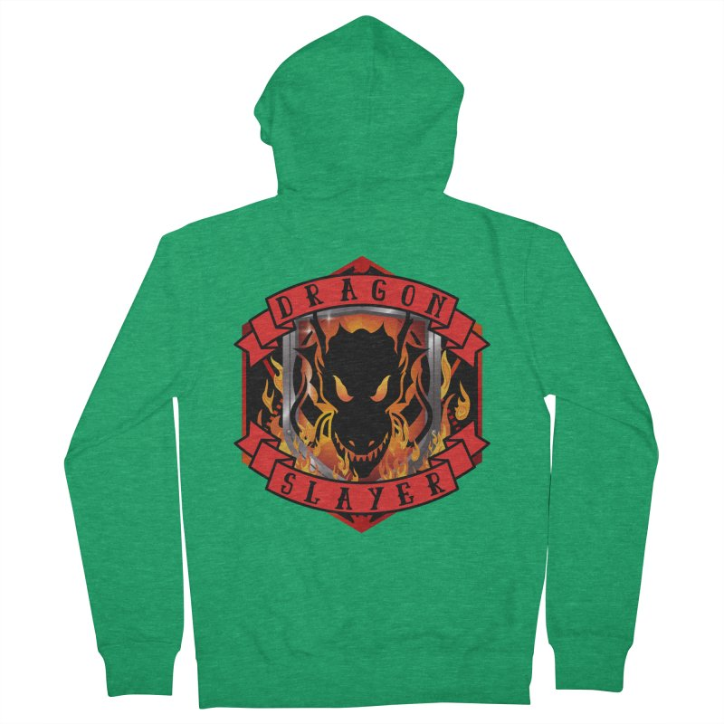 Dragon Slayer Men's Zip-Up Hoody by RandomEncounterProductions's Artist Shop