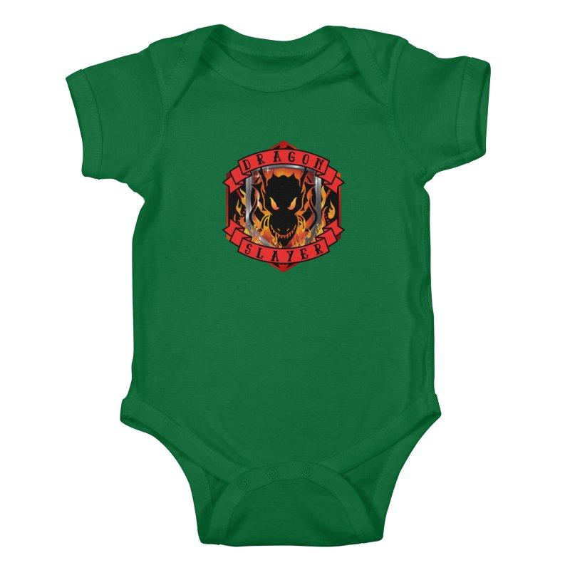 Dragon Slayer Kids Baby Bodysuit by RandomEncounterProductions's Artist Shop