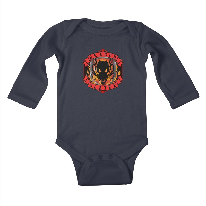 Dragon Slayer Kids Baby Longsleeve Bodysuit by RandomEncounterProductions's Artist Shop