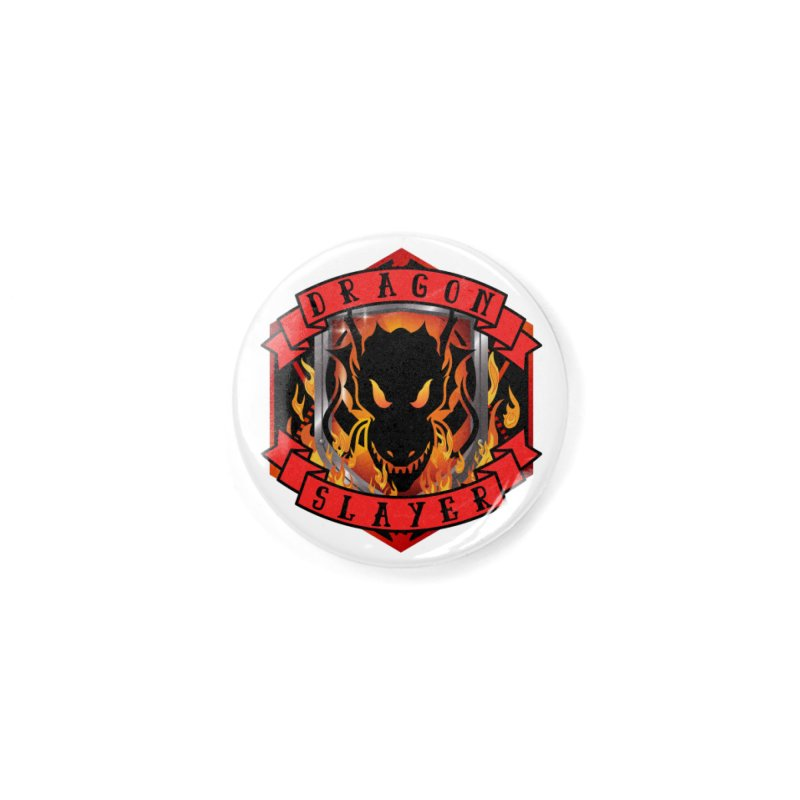 Dragon Slayer Accessories Button by RandomEncounterProductions's Artist Shop
