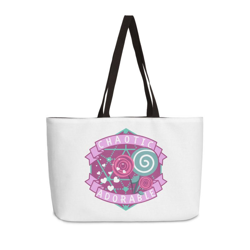 Chaotic Adorable Accessories Weekender Bag Bag by RandomEncounterProductions's Artist Shop
