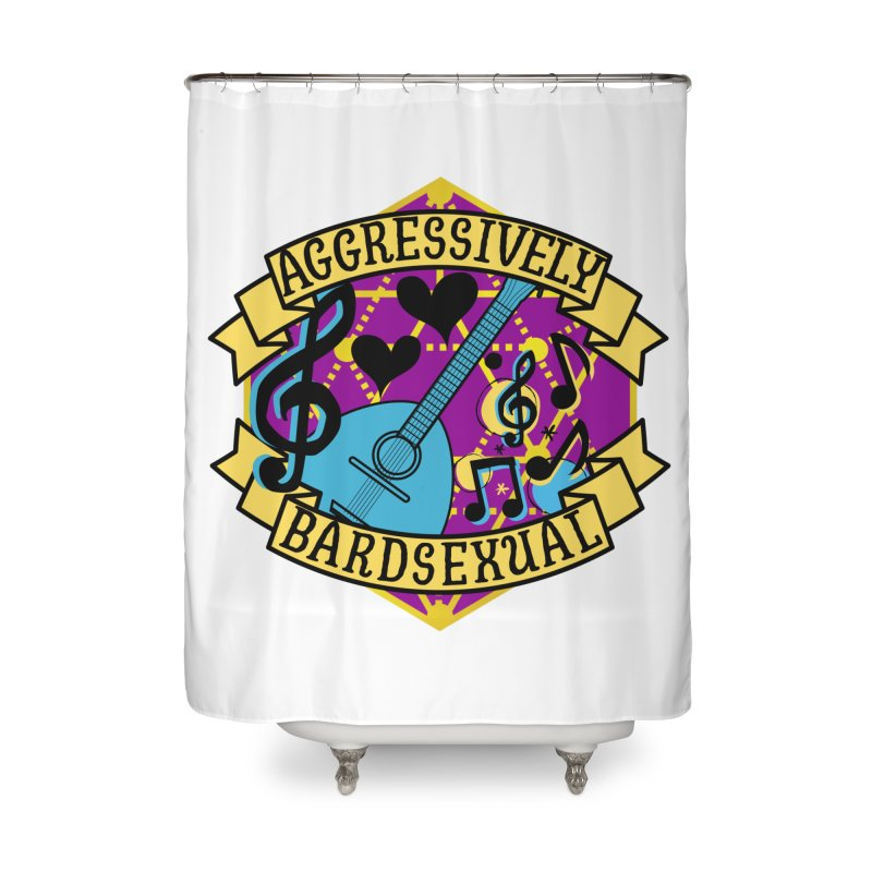 Aggressively Bardsexual Home Shower Curtain by RandomEncounterProductions's Artist Shop