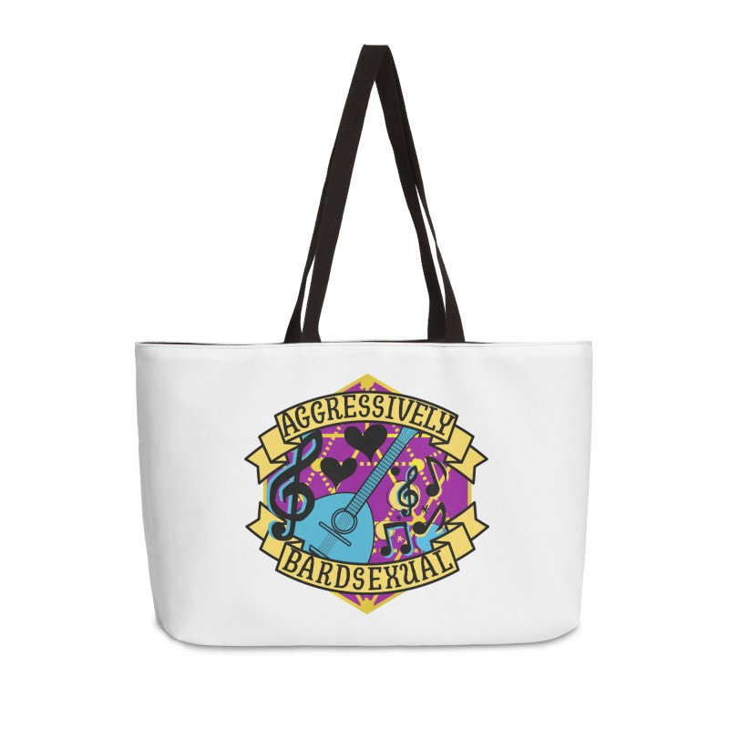 Aggressively Bardsexual Accessories Weekender Bag Bag by RandomEncounterProductions's Artist Shop