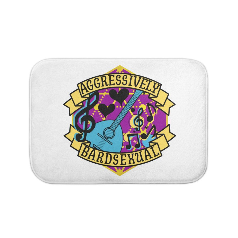 Aggressively Bardsexual Home Bath Mat by RandomEncounterProductions's Artist Shop