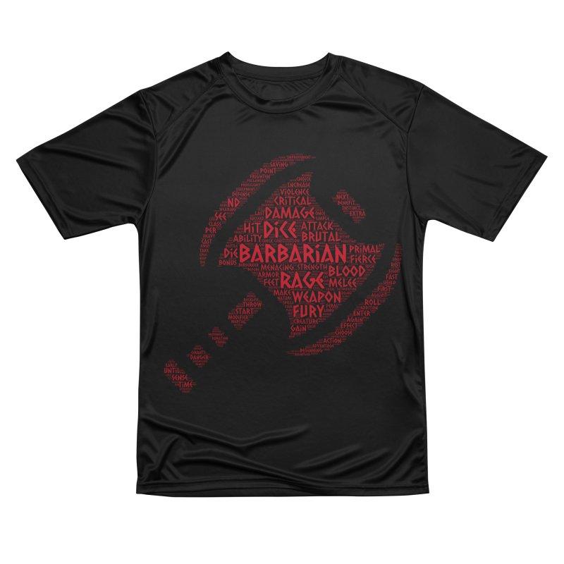 "Power Word ""Cloud"" -- Barbarian Men's T-Shirt by RandomEncounterProductions's Artist Shop"
