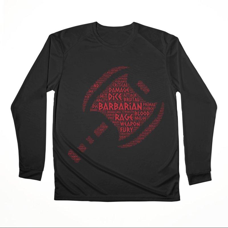 "Power Word ""Cloud"" -- Barbarian Men's Longsleeve T-Shirt by RandomEncounterProductions's Artist Shop"