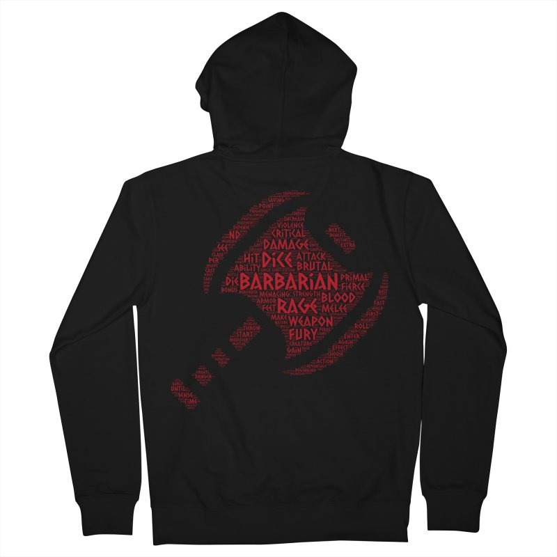 "Power Word ""Cloud"" -- Barbarian Men's Zip-Up Hoody by RandomEncounterProductions's Artist Shop"