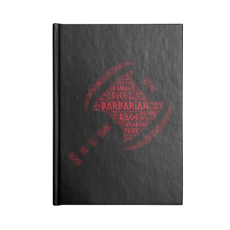 "Power Word ""Cloud"" -- Barbarian Accessories Notebook by RandomEncounterProductions's Artist Shop"