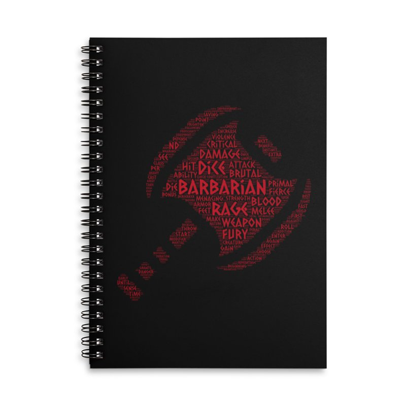 "Power Word ""Cloud"" -- Barbarian Accessories Notebook by RandomEncounterProductions's Artist Shop"