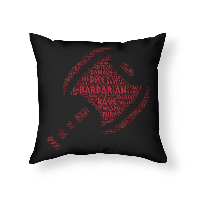 "Power Word ""Cloud"" -- Barbarian Home Throw Pillow by RandomEncounterProductions's Artist Shop"