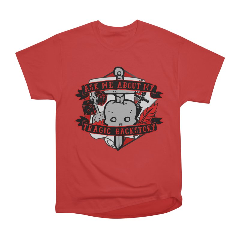 Ask Me About My Tragic Backstory Men's T-Shirt by RandomEncounterProductions's Artist Shop