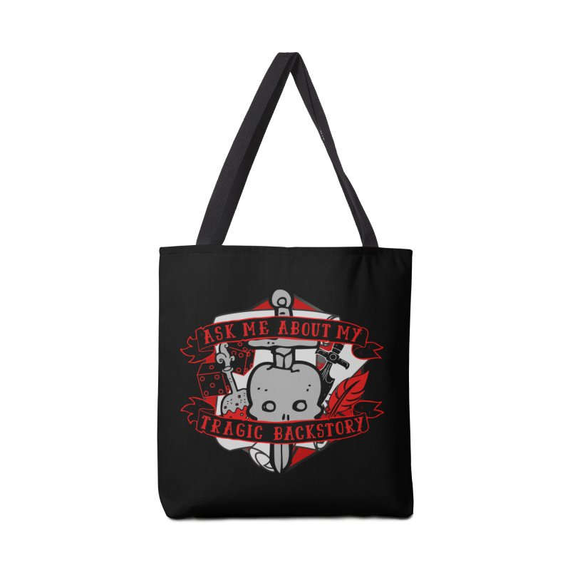Ask Me About My Tragic Backstory Accessories Bag by RandomEncounterProductions's Artist Shop