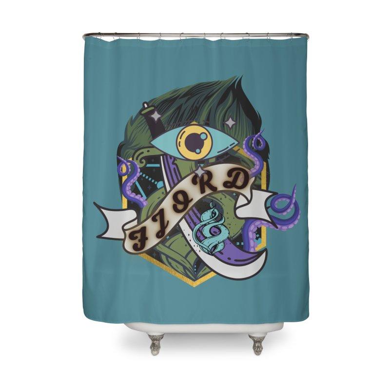 Fjord Home Shower Curtain by RandomEncounterProductions's Artist Shop
