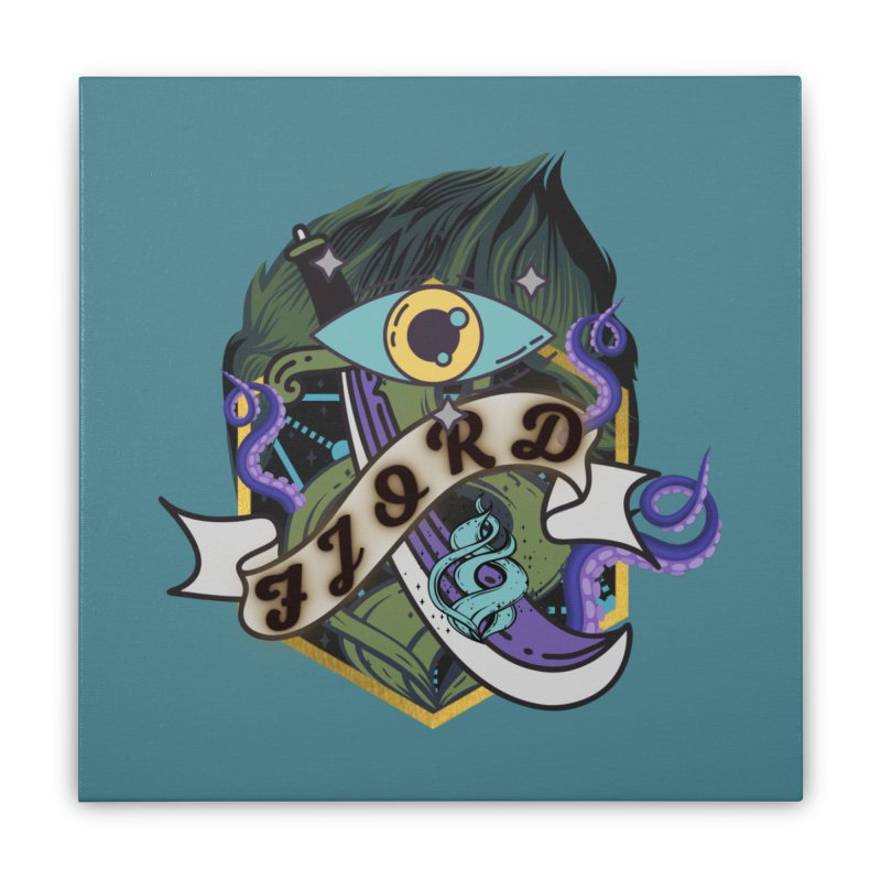 Fjord Home Stretched Canvas by RandomEncounterProductions's Artist Shop