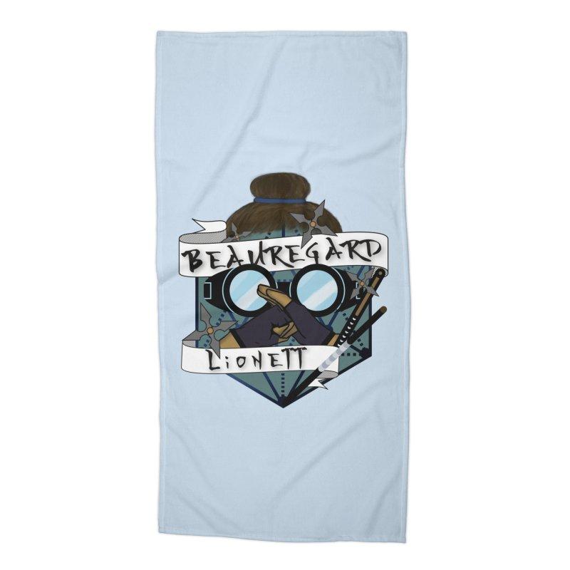 Beauregard Lionett Accessories Beach Towel by RandomEncounterProductions's Artist Shop