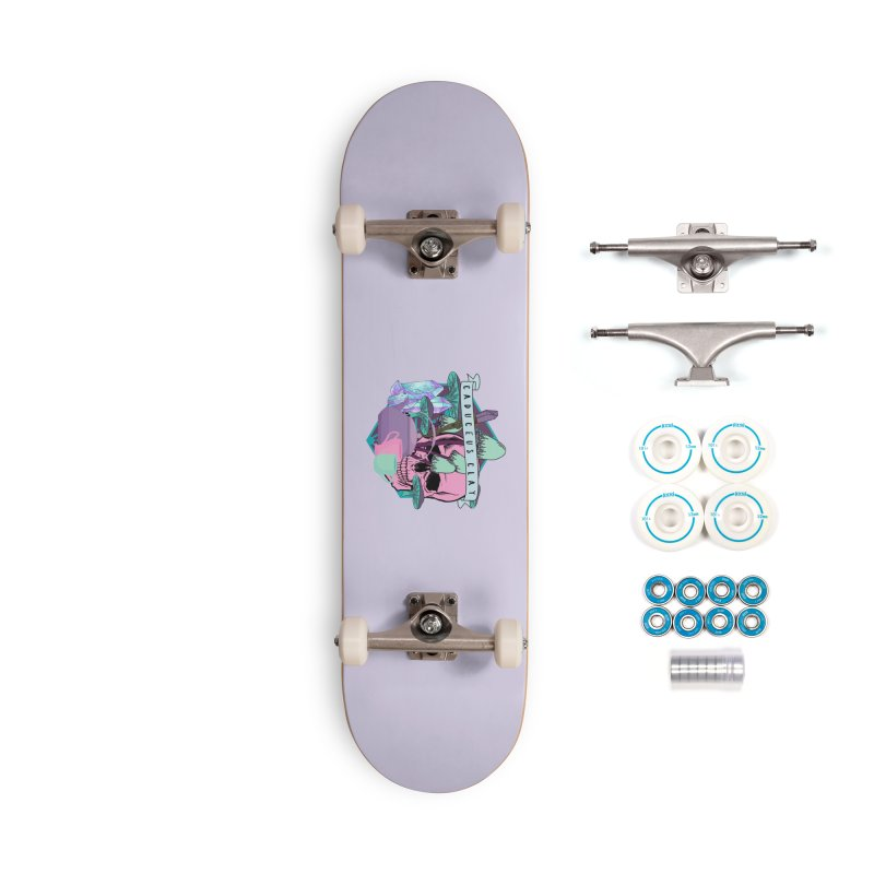 Caduceus Clay Accessories Skateboard by RandomEncounterProductions's Artist Shop