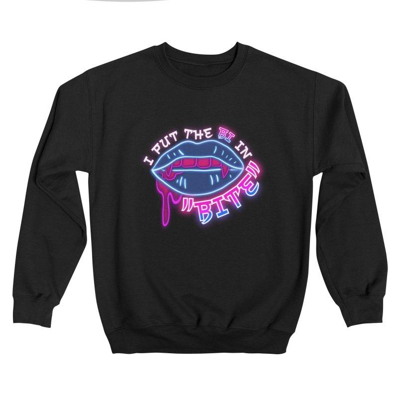 "I Put The ""BI"" In ""BITE"" Women's Sweatshirt by RandomEncounterProductions's Artist Shop"