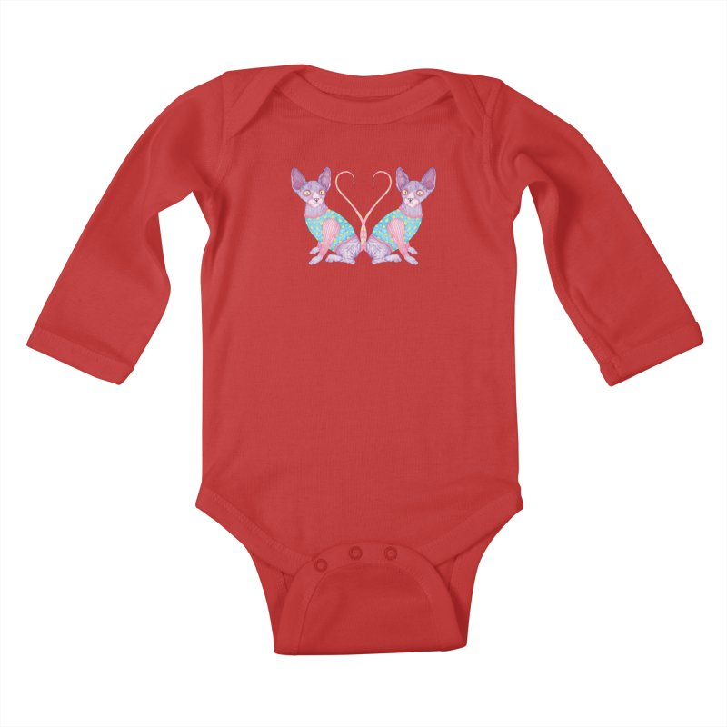 Clowncat Kids Baby Longsleeve Bodysuit by Ranggasme's Artist Shop