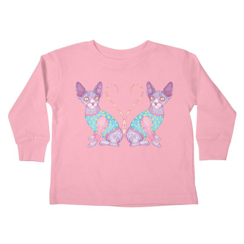 Clowncat Kids Toddler Longsleeve T-Shirt by Ranggasme's Artist Shop
