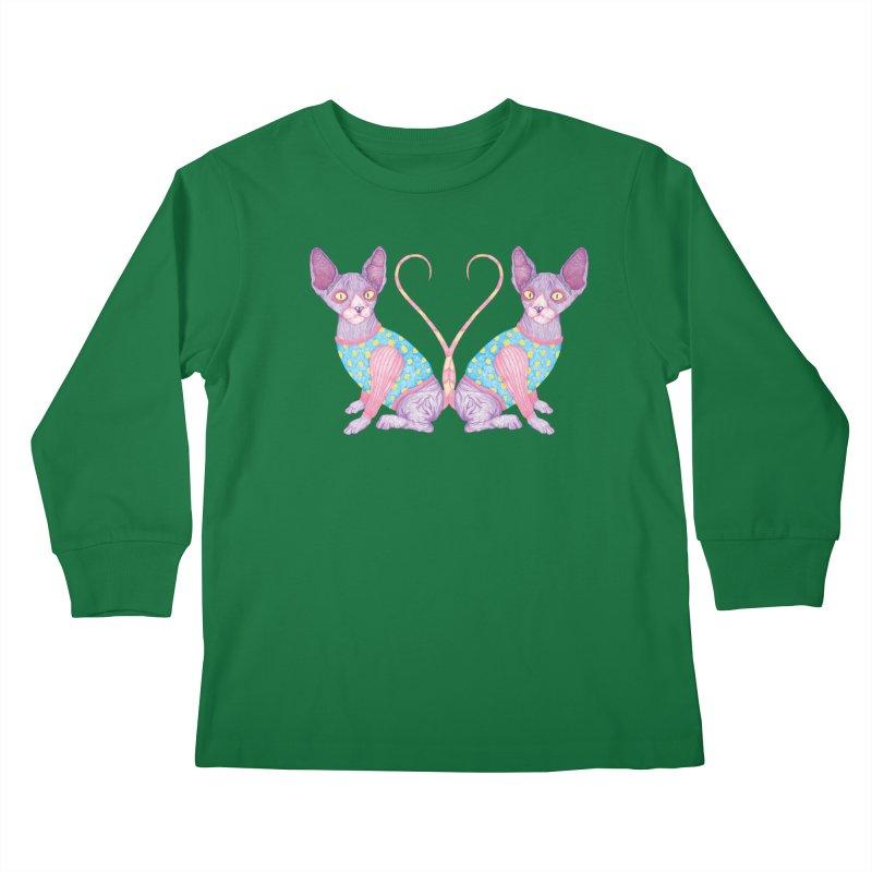 Clowncat Kids Longsleeve T-Shirt by Ranggasme's Artist Shop