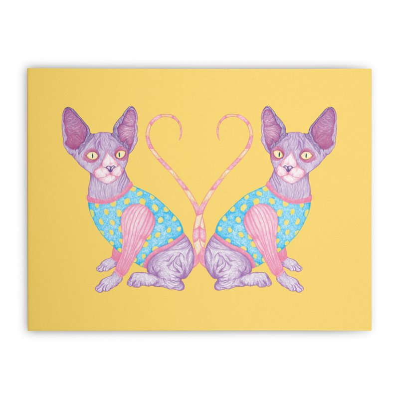 Clowncat Home Stretched Canvas by Ranggasme's Artist Shop