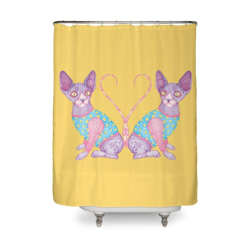 Clowncat Home Shower Curtain by Ranggasme's Artist Shop
