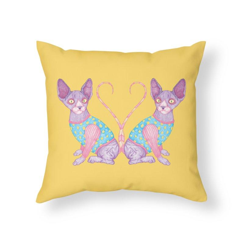 Clowncat Home Throw Pillow by Ranggasme's Artist Shop