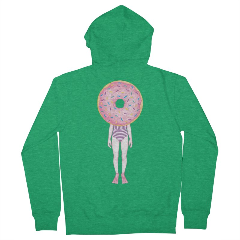 The Summer Treats: Pool Party Doughtnut  Women's Zip-Up Hoody by Ranggasme's Artist Shop