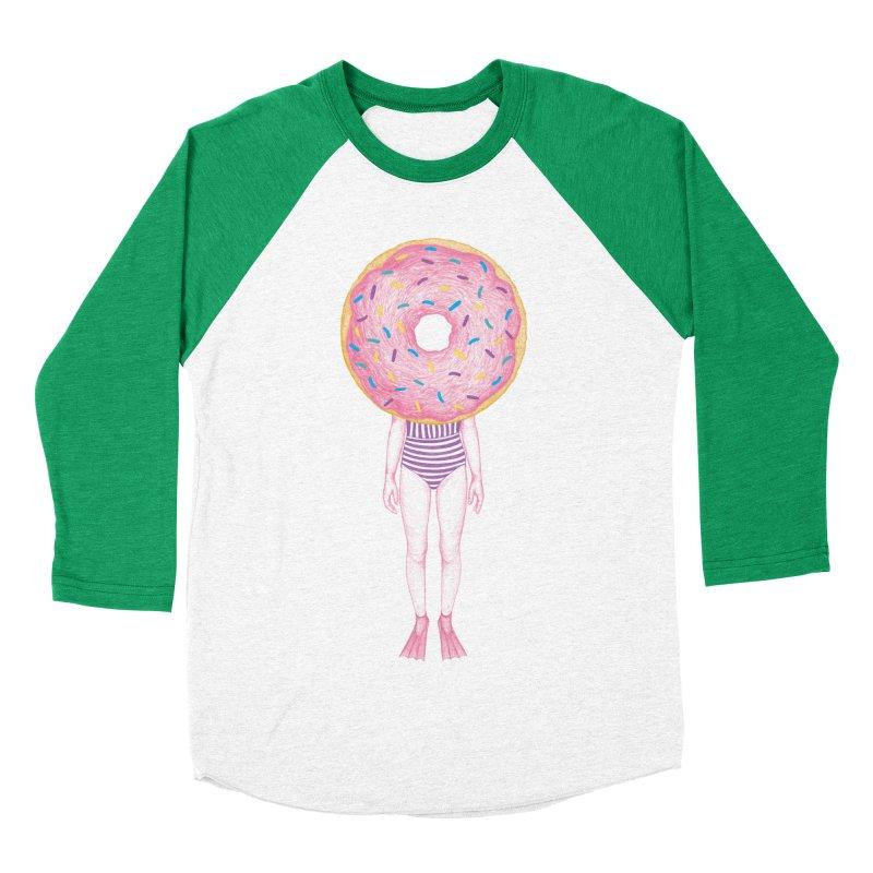 The Summer Treats: Pool Party Doughtnut  Men's Baseball Triblend T-Shirt by Ranggasme's Artist Shop