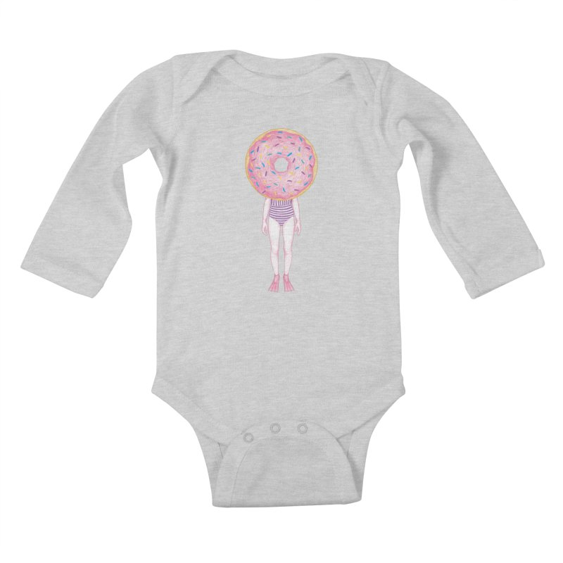 The Summer Treats: Pool Party Doughtnut  Kids Baby Longsleeve Bodysuit by Ranggasme's Artist Shop