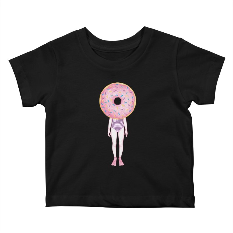 The Summer Treats: Pool Party Doughtnut  Kids Baby T-Shirt by Ranggasme's Artist Shop