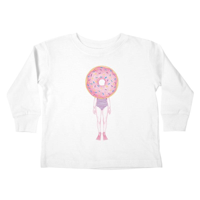 The Summer Treats: Pool Party Doughtnut  Kids Toddler Longsleeve T-Shirt by Ranggasme's Artist Shop