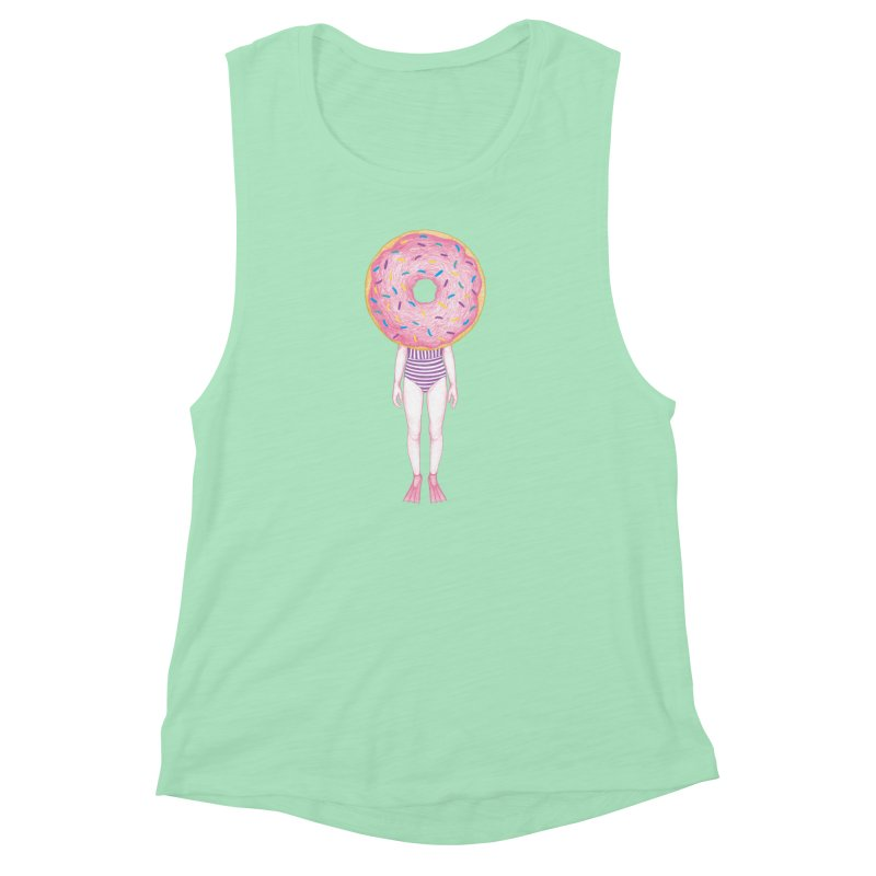 The Summer Treats: Pool Party Doughtnut  Women's Muscle Tank by Ranggasme's Artist Shop