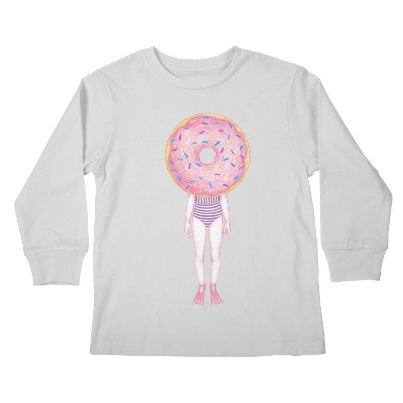 The Summer Treats: Pool Party Doughtnut  Kids Longsleeve T-Shirt by Ranggasme's Artist Shop