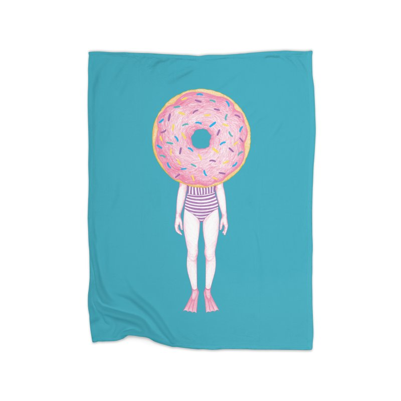 The Summer Treats: Pool Party Doughtnut  Home Blanket by Ranggasme's Artist Shop