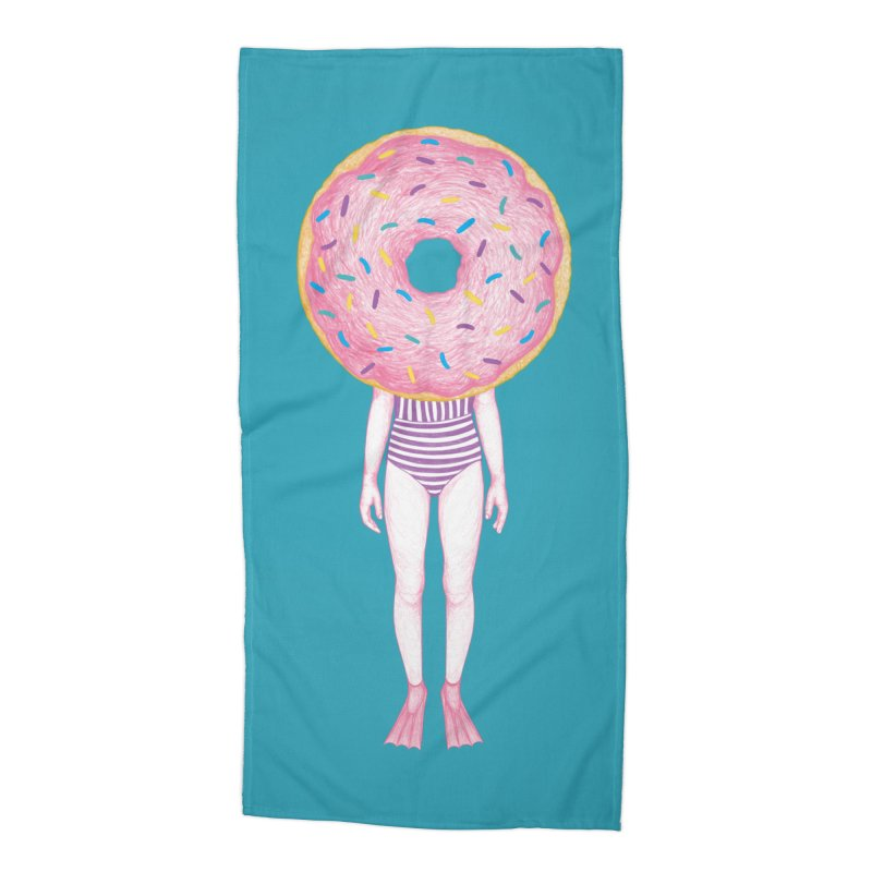 The Summer Treats: Pool Party Doughtnut  Accessories Beach Towel by Ranggasme's Artist Shop