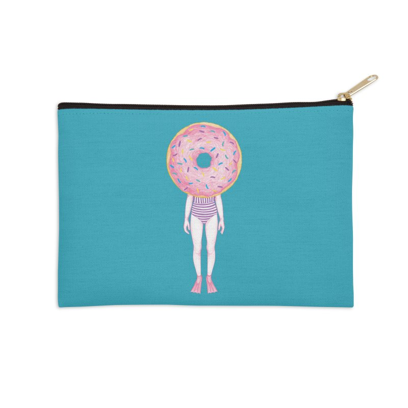 The Summer Treats: Pool Party Doughtnut  Accessories Zip Pouch by Ranggasme's Artist Shop