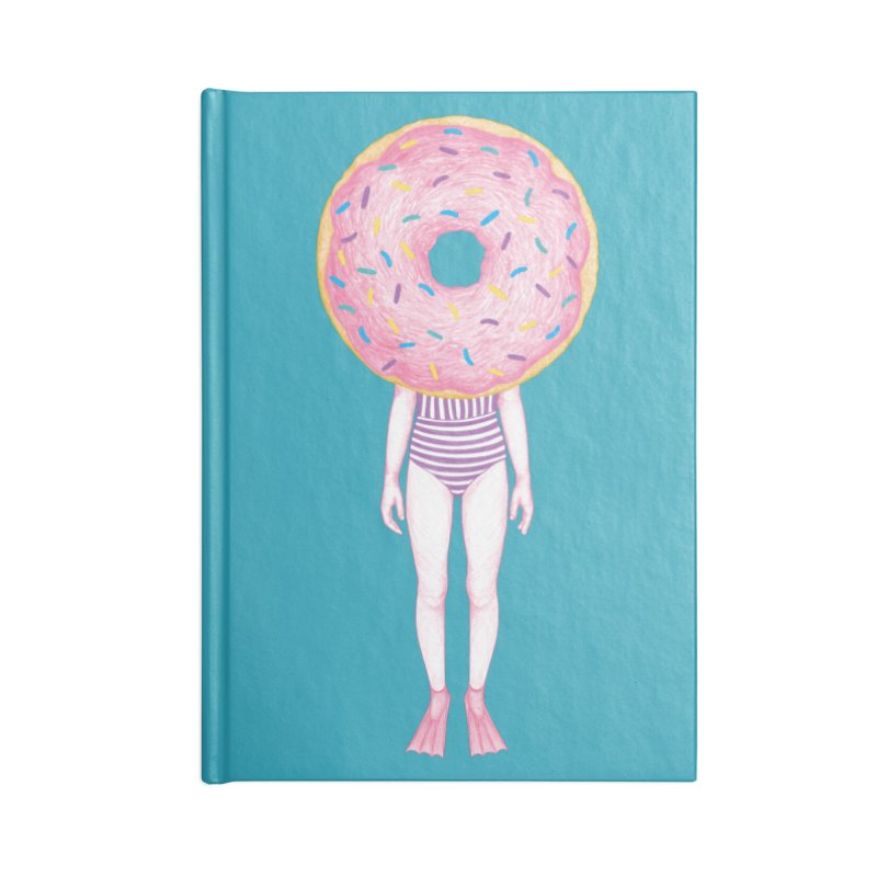 The Summer Treats: Pool Party Doughtnut  Accessories Notebook by Ranggasme's Artist Shop