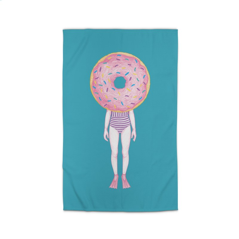 The Summer Treats: Pool Party Doughtnut  Home Rug by Ranggasme's Artist Shop
