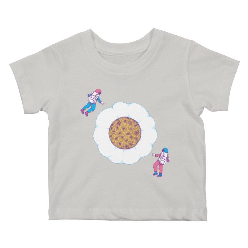 Moon Yolk Kids Baby T-Shirt by Ranggasme's Artist Shop