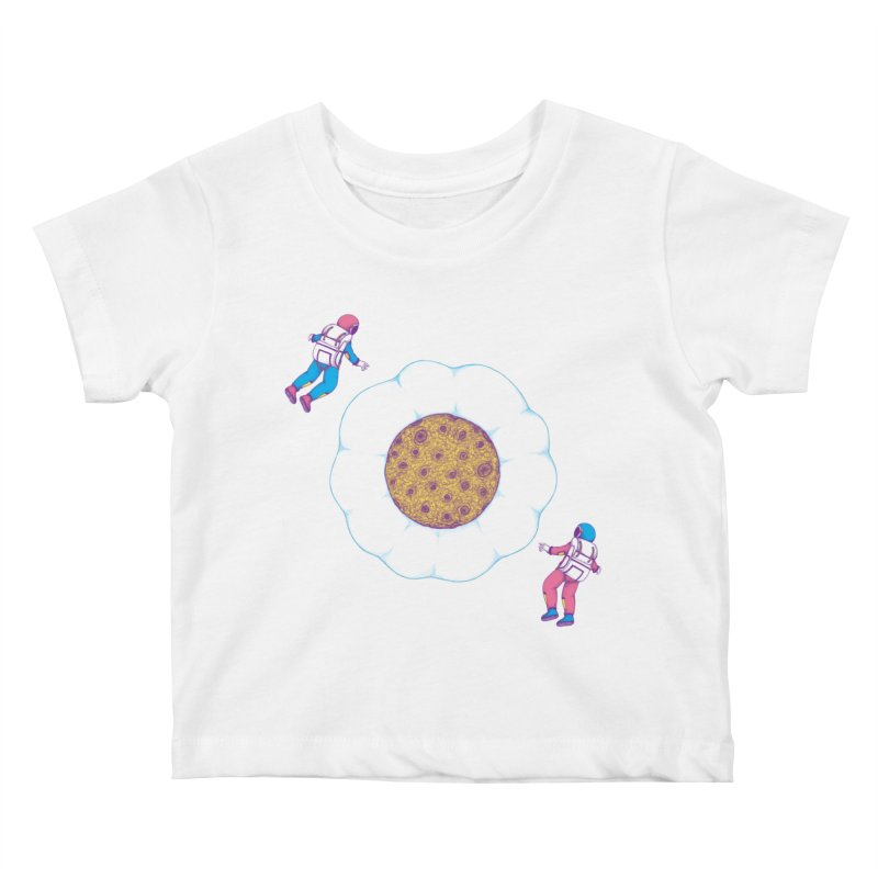 Moon Yolk Kids Baby T-Shirt by Ranggasme's Artist Shop