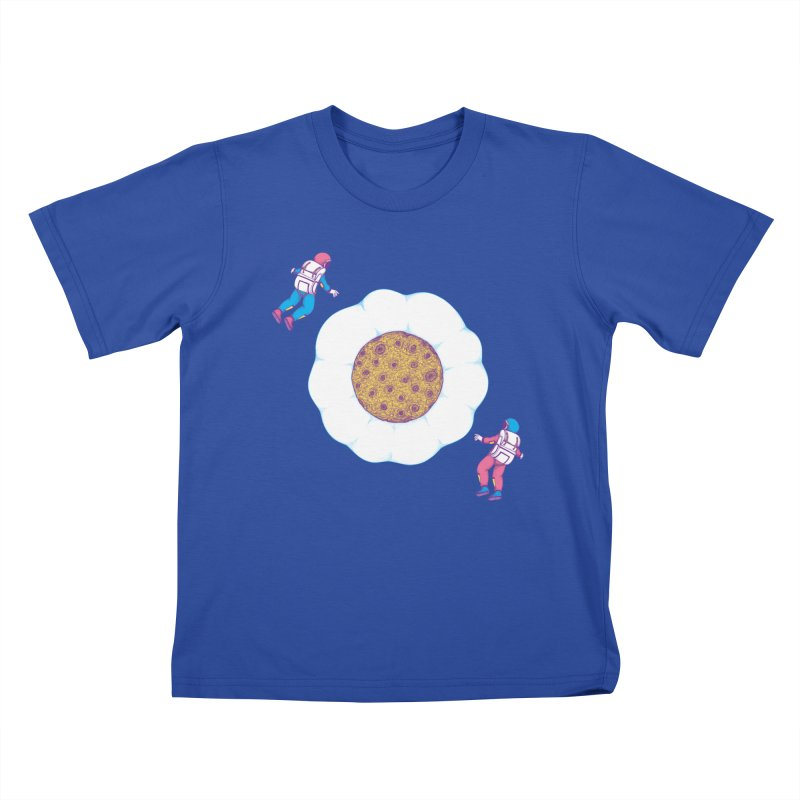 Moon Yolk Kids T-Shirt by Ranggasme's Artist Shop