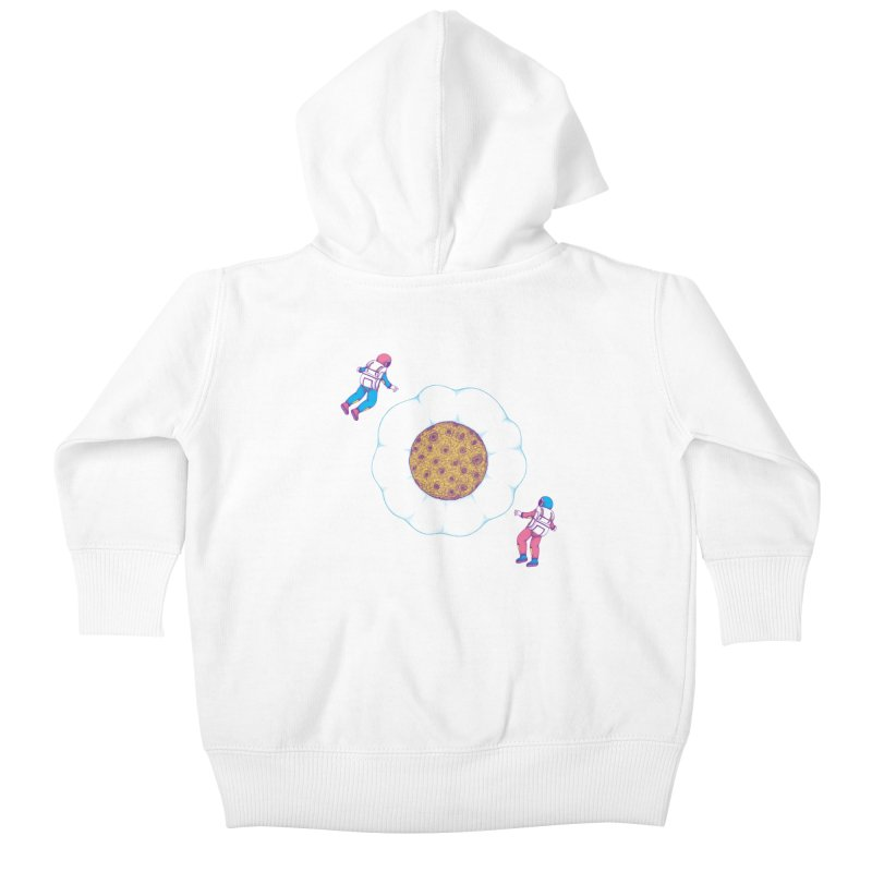 Moon Yolk Kids Baby Zip-Up Hoody by Ranggasme's Artist Shop