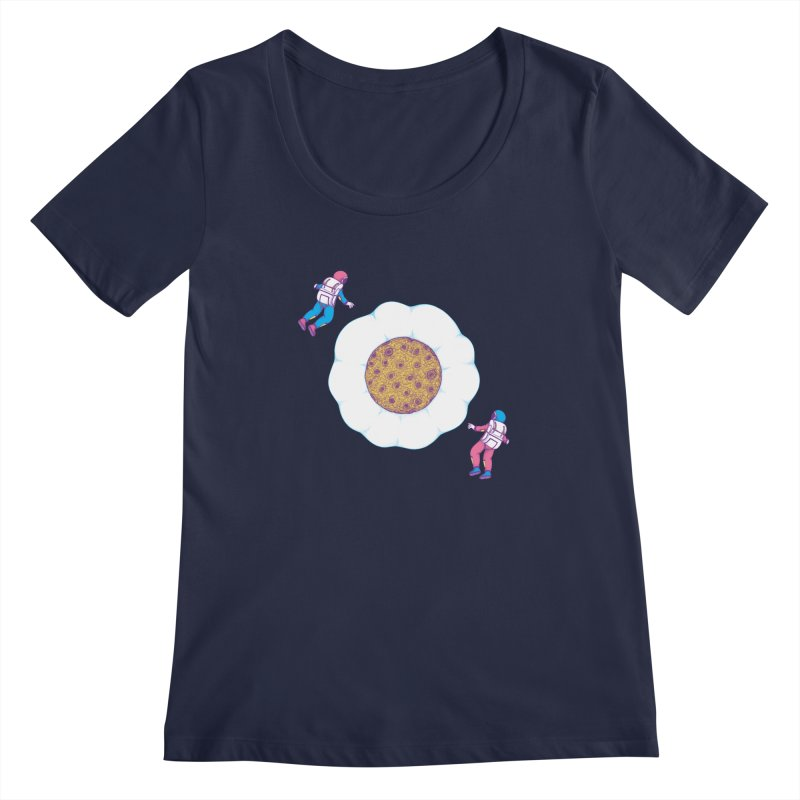 Moon Yolk Women's Scoopneck by Ranggasme's Artist Shop