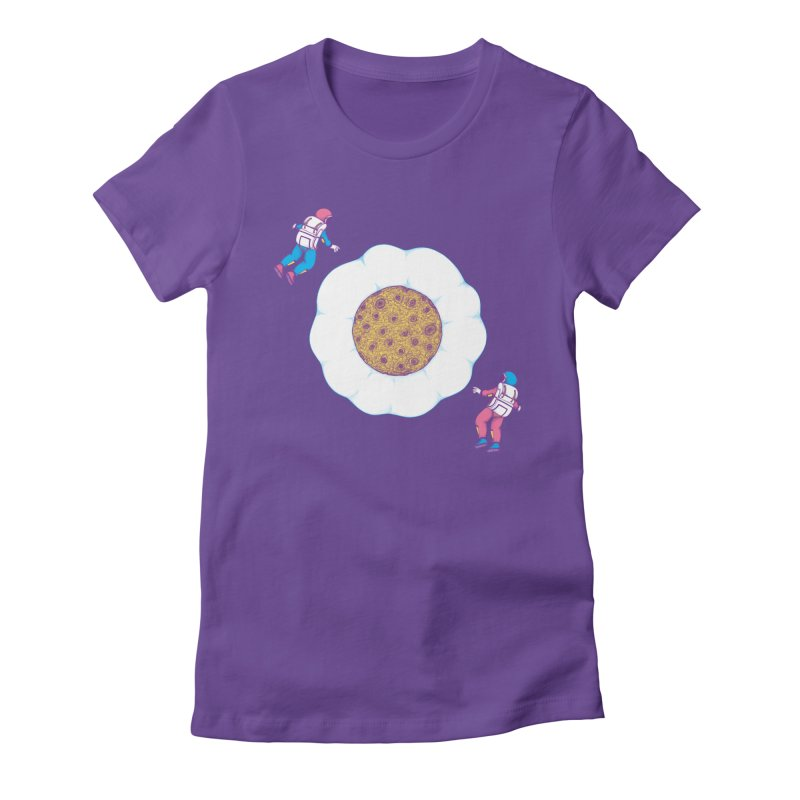 Moon Yolk Women's Fitted T-Shirt by Ranggasme's Artist Shop