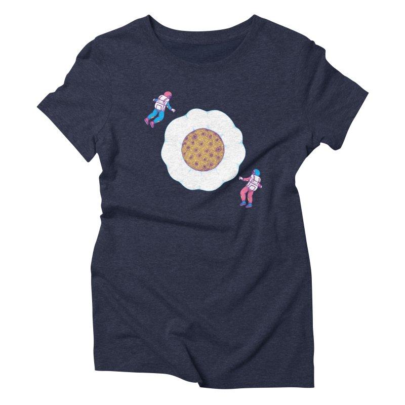 Moon Yolk Women's Triblend T-Shirt by Ranggasme's Artist Shop