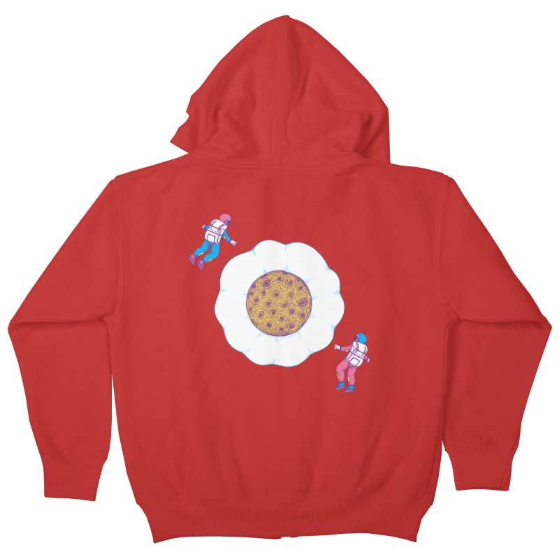 Moon Yolk Kids Zip-Up Hoody by Ranggasme's Artist Shop