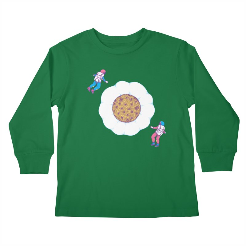 Moon Yolk Kids Longsleeve T-Shirt by Ranggasme's Artist Shop
