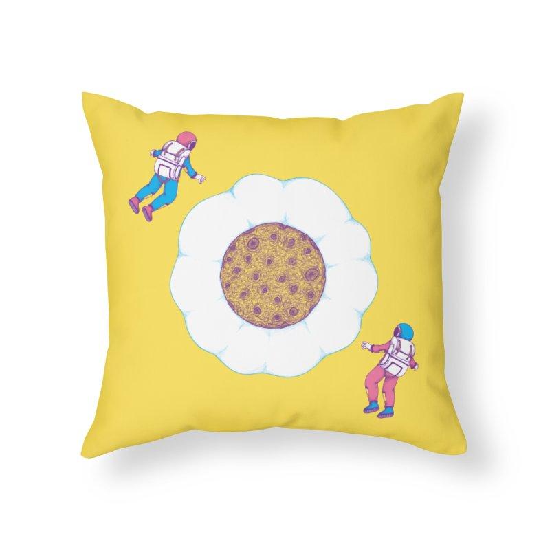 Moon Yolk Home Throw Pillow by Ranggasme's Artist Shop